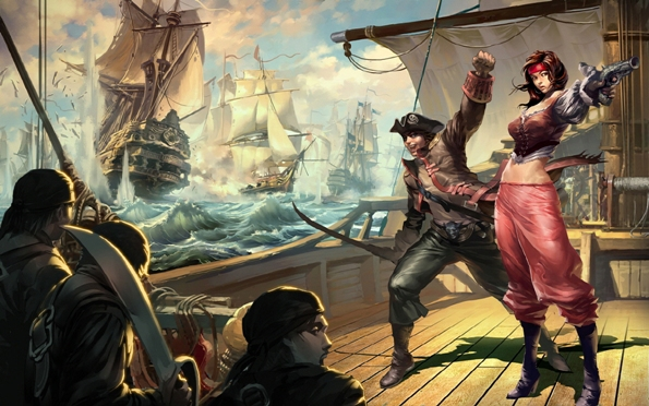 Giocatori di ruolo sul mare